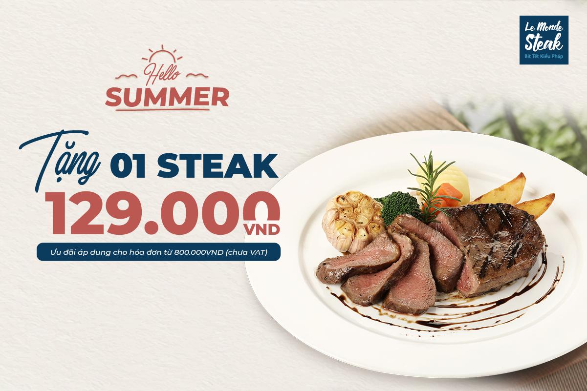 Tặng 01 Steak 129k Cho Nhóm 4 Người
